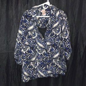 Women's white stag blouse
